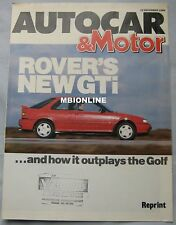 Rover 216 GTi V's VW Golf GTi 16v Reprinted Road test