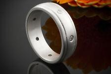 Schmuck Platinring Ring mit Brillanten rundum Massiv in 950er Platin