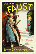 Faust 1926 FW Murnau Silent Classic Photo Repro Vintage Film Poster