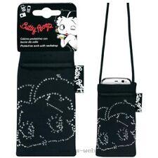 BETTY BOOP Strass - Housse chaussette GSM MP3 - noir