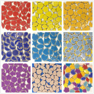 Irregular Shape Glass Mosaic Tiles Square Diamond Ceramic Mosaic Tile DIY Crafts