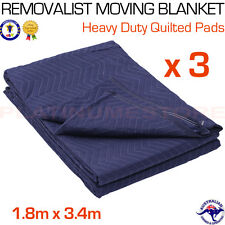 3 x Furniture Protection Moving Blankets Removalist Pads Quilted Padded Blanket
