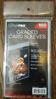 100 Ultra Pro Graded Card Sleeves. Fits PSA, Beckett BGS, 1/4'' Screwdown