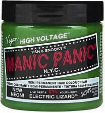 Manic Panic Semi-Permanent Hair Color Cream, Electric Lizard 4 oz (Pack of 2)