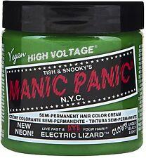 Manic Panic Semi-Permanent Hair Color Cream, Electric Lizard 4 oz (Pack of 2)