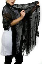 """(GUESS CLOSING ) Women's Fashion Scarf, Black 65"""" diameter 20"""" width 100% rayan"""