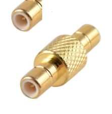 SMB male to SMB male coupler connector adapter Gold Plated             F271K