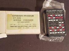 NEW IN BOX Omega-Phone Telephone Wiring Checker ET-228 Iwatsu Electric