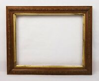 "Antique Wood and Gesso Ornate Floral Pattern Picture Frame Fits 10.5"" x 8"""