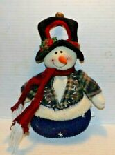"14"" Tall Christmas Snowman w/Hat & Scarf Door Knob Hanger"