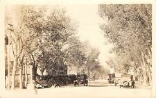 Wheatland Wyoming~Main Street~Vintage Autos~The Grease Spot~Ladies~c1920 RPPC