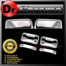 04-08 Ford F150 Chrome Top Half Mirror+2 Door Handle+no keypad+PSG keyhole Cover