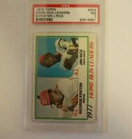 1978 Topps Home Run Leaders Jim Rice / George Foster Card #202 PSA 7