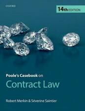 Poole's Casebook on Contract Law 14th Edition by Robert Merkin Severine Saintier