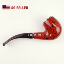 Durable Smoking Pipe Tobacco Classic Cigarettes Cigar Pipes Dark Red Us