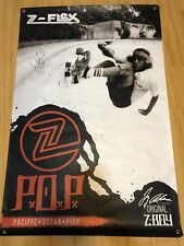 Jay Adams Autographed Z-Flex P.O.P. Dogtown Skateboarding Huge 36x54in. Banner