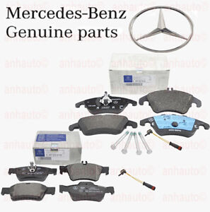 Genuine Mercedes-Benz Front & Rear Brake Pad Set with Sensors