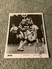 1980s New York Jets Marion Barber Signed Football Team Issue Minnesota Gophers