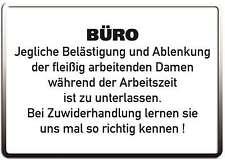 BÜRO FLEISSIGE DAMEN FUNSCHILD - 10x15 cm Blechkarte Blechschild 15047