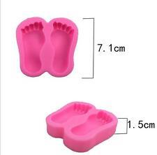 Baby Shower Feet Silicone Fondant Mould Cake Decor Sugar Gum Paste Icing Mold 22