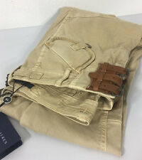 Ralph Lauren Polo Cargo Pants Womens 6 Leather Tan Beige Khaki New