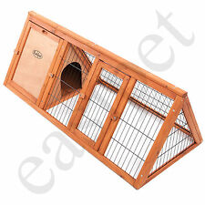 "Wooden Rabbit Guinea Pig Hutch 46"" Wood Pet Ferret Coop Outdoor House Apex Run"