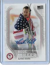 RARE 2018 TOPPS OLYMPICS BODE MILLER ALPINE SKIING FLAG AUTOGRAPH CARD ~ /25