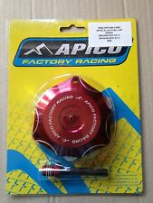 HONDA  CRF 450 R  2002-2016  APICO ALLOY FUEL PETROL CAP & VENT PIPE RED