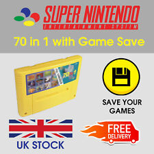 SNES Games - 70 in 1 - Save Function - PAL - Super Nintendo Multi Game Cart
