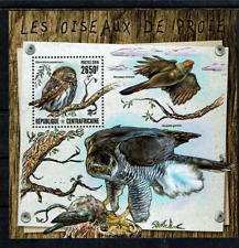 central africa PF MNH BLOK ROOFVOGELS BIRDS OF PREY VOGELS OISEAUX AVES VÖGEL