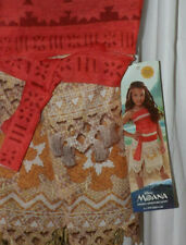 DISNEY PRINCESS MOANA DRESS ONE PIECE RED TOP GOLD & TAN SKIRT SZ SM 4-6X   NWT