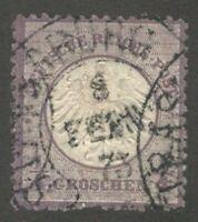 Germany Scott #1, 1/4 gr. violet, Used, Very Fine
