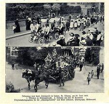 Festumzug vom kant. Schützenfest in Lachen, Kt Schwyz Mädchen in Tracht v. 1909