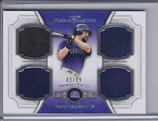 TODD HELTON 2012 Topps Museum Primary Pieces Quad Relics Jersey #49/99 (B9975)