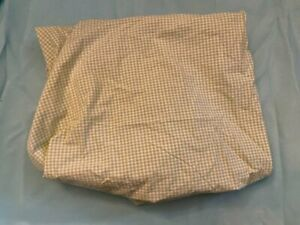 Pottery Barn Kids Baby Toddler Green Gingham Cotton Check Crib Fitted Sheet