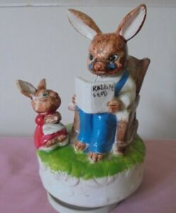 """J B G ROTATING MUSICAL RABBIT ORNAMENT - """" TALK TO THE ANIMALS """"- DR DOLITTLE"""