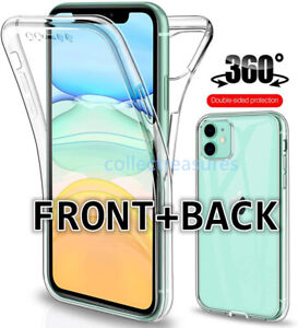 360 Clear Case For iPhone 13 12 11 Pro XS Max XR X 8 7 SE Full Cover Silicone