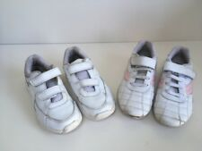 Girls Lonsdale & Clarks White Trainers School / PE Size 11 1/2 / 12