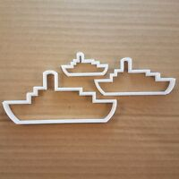 Boat Ship Steam Shape Cookie Cutter Dough Biscuit Pastry Fondant Sharp Beach