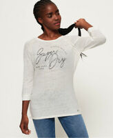 Superdry Womens Penton Linen Graphic Long Sleeve Top