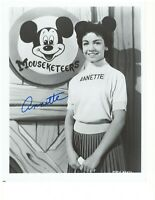 Annette Funicello 'Micky Mouse Club' Authentic Autographed 8X10 Signed Photo