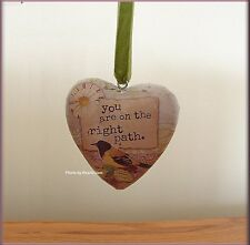 RIGHT PATH BOXED HEART ORNAMENT BY KELLY RAE ROBERTS FREE U.S. SHIPPING
