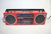 Vintage 1980s Red Magnavox Stereo Radio Cassette Player Boombox D8027/17L REPAIR