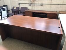 EXECUTIVE SET DESK & CREDENZA by KIMBALL OFFICE FURN in CHERRY COLOR WOOD