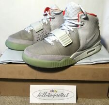 (USED) NIKE AIR YEEZY 2 PLATINUM Wolf Grey Sz US7 UK6 KANYE WEST 508214-010 2012