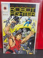 1992 VALIANT COMICS MAGNVS #1  SIGNED BOB LAYTON    MAGNUS ROBOT FIGHTER
