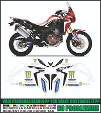 kit adesivi stickers compatibili africa twin crf 1000 L replica dakar 2017