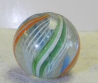 #10889m Bigger .98 Inches German Handmade Latticino Swirl Marble