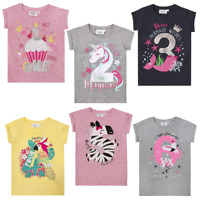 Girls Birthday Number T Shirt Ages 1,2,3,4,5,6 NEW with TAGS