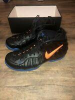 New Nike Air Foamposite Pro Knicks Blue Orange Men's Size 10.5 and 12 624041-010